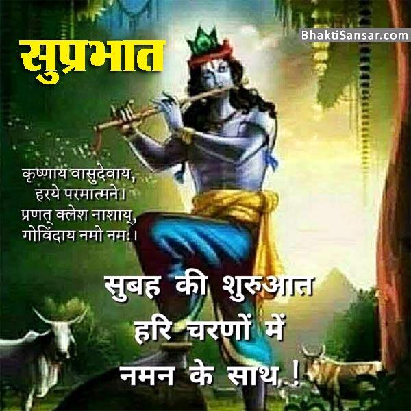 Good Morning Jai Shree Krishna Quotes Images, Photo for
